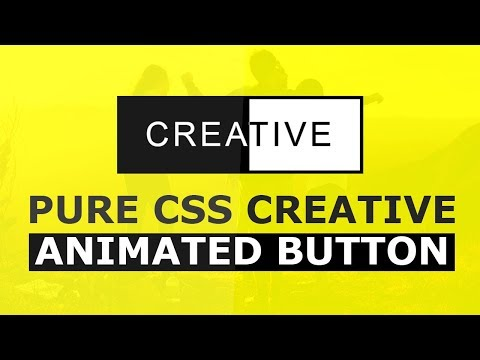 Pure CSS Creative Animated Button - Html CSS Animation Effects Tutorial