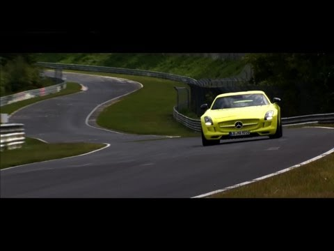 Mercedes SLS AMG Electric Drive established a lap record at Nürburgring Nordschleife