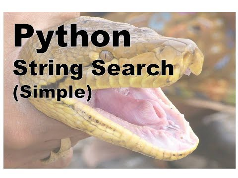 650 - Python - String Search, Simple