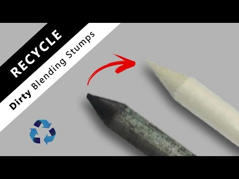 How to clean old & dirty blending stumps | tortillons