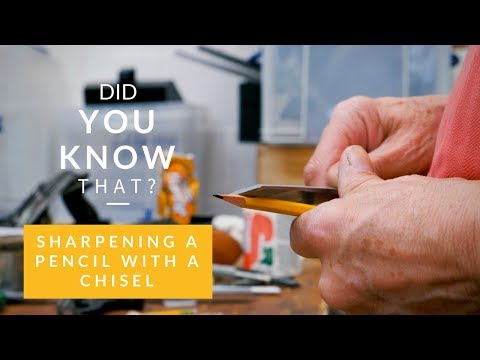 Sharpening a Pencil with a Chisel | Paul Sellers