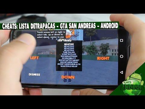 CHEATS - LISTA DE TRAPAÇAS - GTA SAN ANDREAS ANDROID(SEM ROOT) 2016