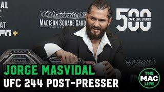 Jorge Masvidal on win over Nate Diaz, 'BMF' belt and The Rock   UFC 244 post fight press conference