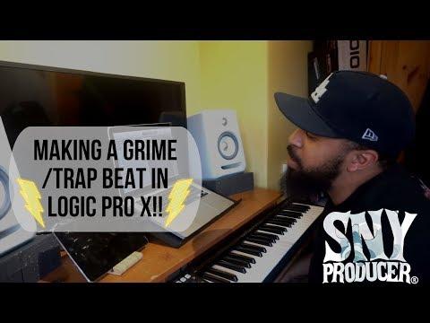 MAKING A GRIME/TRAP BEAT ON LOGIC PRO X!!⚡️⚡️ - SLMPDSESSIONS: 001