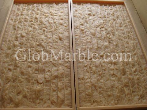 How to cast concrete stone with premixed concrete. GlobMarble stone mold LS 1301
