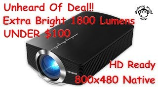 Unheard of deal on an 1600 & 1800 lumens projector, the GooDee YG500 Mini Portable Projector review