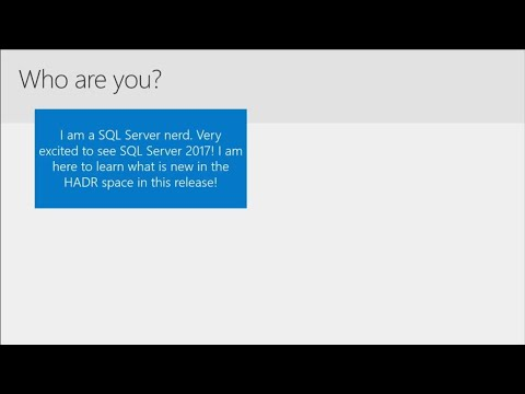 Maximum availability and extreme read scale-out with Microsoft SQL Server 2017 - BRK4018