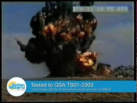 Solar Gard Armorcoat Safety Film: GSA TSO1-2003 Bomb Blast Test