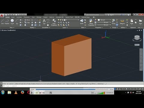 How to change AutoCAD 2d wireframe into realistic view