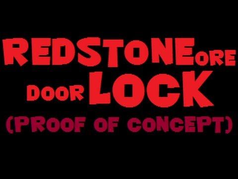Redstone Ore Door Lock (Concept) Minecraft 1.3