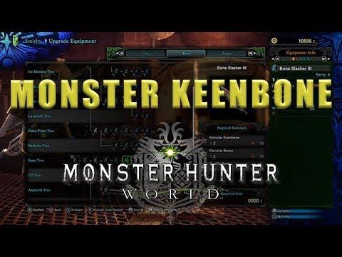 Monster Keenbone farming Monster Hunter World - Monster Keenbone MHW