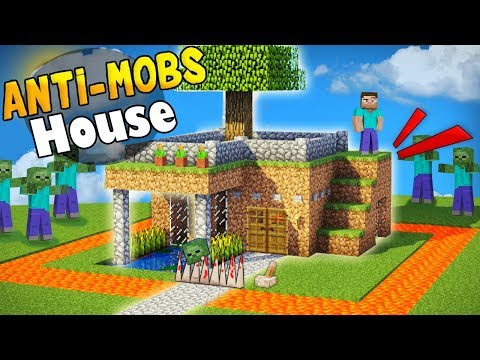 Minecraft: Mob Proof Starter House Tutorial - How to Build a House in Minecraft