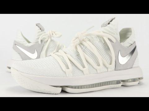 Nike KD 10 White Chrome STILL KD Review, On Feet + Unboxing