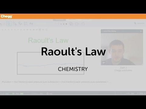Raoult's Law | Chemistry | Chegg Tutors
