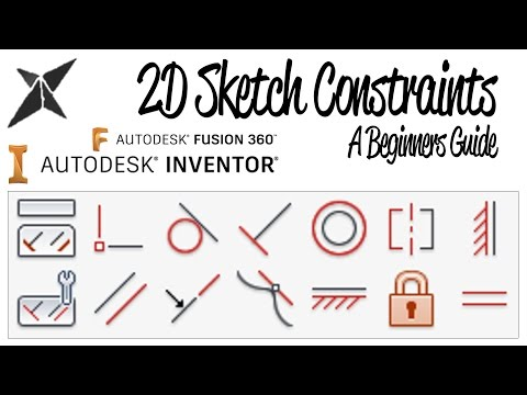 2D Sketch Constraints, A Beginners Guide | Inventor & Fusion 360