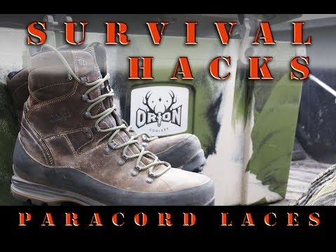 Survival and Camping Hacks - Paracord boot laces