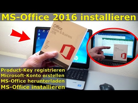 MS Office 2016 kaufen - Product-Key registrieren - Download - Installation
