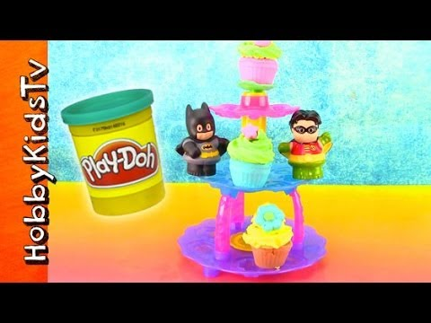 PLAY-DOH Cupcake Tower Set! Batman Helps HobbyKidsTV