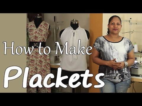 Class 17 - How to make Plackets and Continuous bound placket / easy & neat method