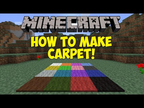 Minecraft: How To Make Carpet! [1.6.1]