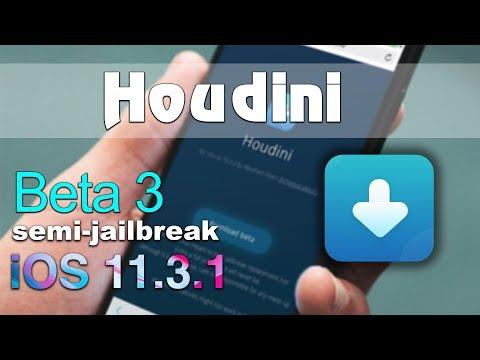 Houdini beta 3 semi-jailbreak for your iOS 11.3.1