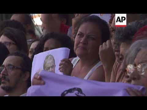 Brazil's da Silva defiant amongst supporters after union address