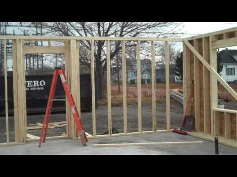 Video # 23 Plywood Put on the Framed Outside Walls