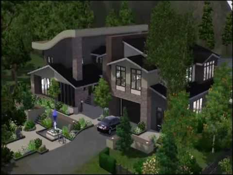 The sims 3 Timelapse of a modern house building - lakeside mansion 4
