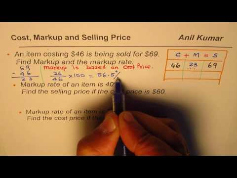How to Calculate Markup Selling Price and Markup Rate