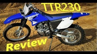 2015 Yamaha TTR 230 - Bike review AFTER UNCORKING and REGEARING