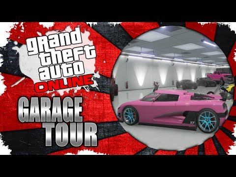 GTA V Online - My Garage Tour - Adder, Entity, Vacca, Cheetah, Sandking, and more! (400k Apartment)