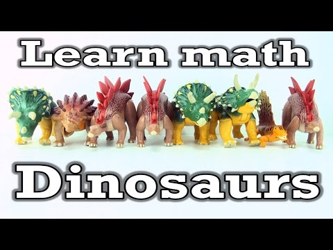 Learn math addition and subtraction with Playmobil Dinosaurs - Learning adding numbers