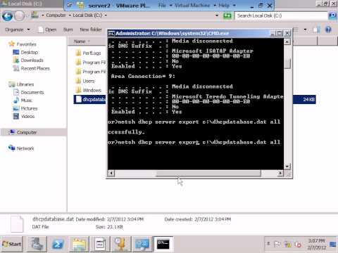 migrate DHCP from Windows server 2003 to windows 2008.avi