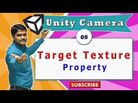 Unity Camera Essentials - 05 - Target Texture Property | Projecting camera output on game object