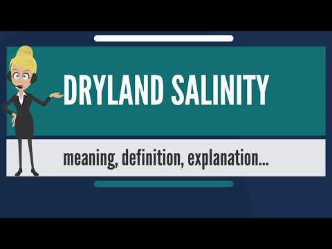 What is DRYLAND SALINITY? What does DRYLAND SALINITY mean? DRYLAND SALINITY meaning & explanation