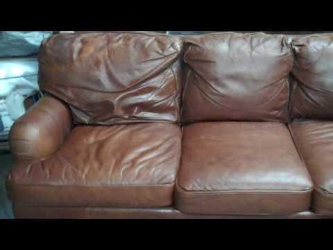 Aniline Leather Sofa, Chair, & Ottoman Repair & Restoration