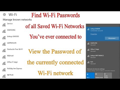 Find Wi-Fi Passwords of the Current Network and All Previously Connected Wi-Fi Networks