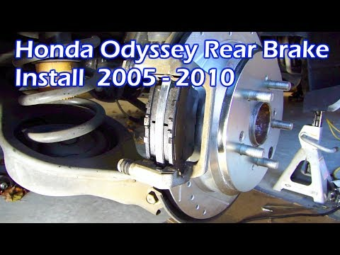 Honda Odyssey Rear Brake Rotors & Pads Install 2005 - 2011