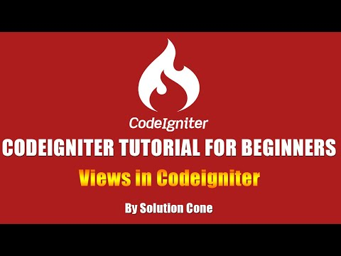 Codeigniter Tutorial for Beginners Step by Step | Views in Codeigniter