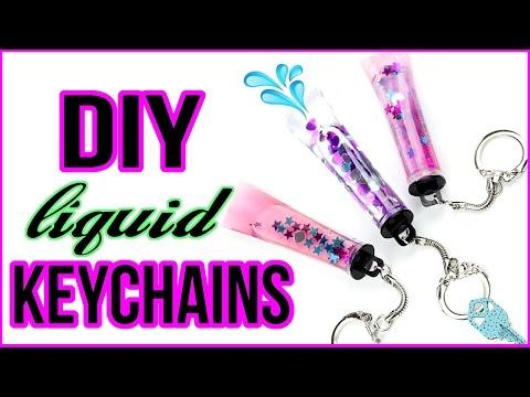 DIY Liquid Keychains! Glitter Liquid Keychain DIYs!