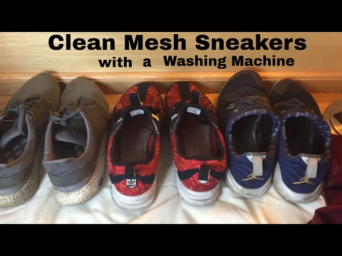 How to Clean Mesh Sneakers in the Washing Machine