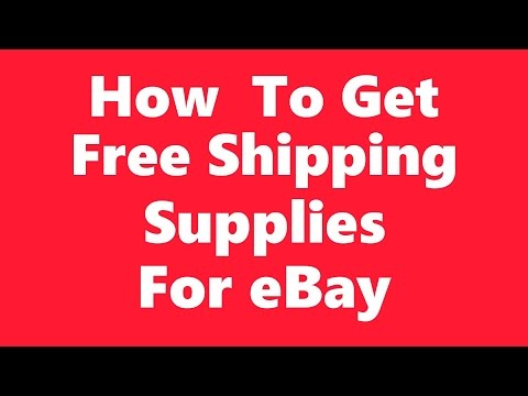 How To Get Free Shipping Supplies For Ebay Sellers - Boxes, Bubble Wrap, Packing Peanuts