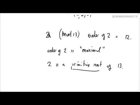 Number Theory 42: Definition of primitive root
