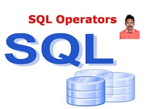 SQL Tutorial 7: SQL Operators