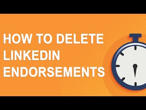 How to delete LinkedIn endorsements
