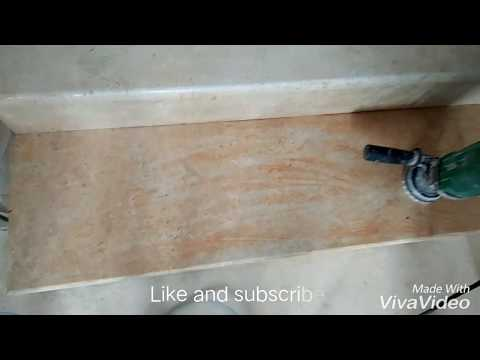 How to clean marble and granite floor and wall and staircase rust and paint