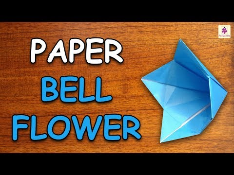 Learn How To Make Bell Flower Using Paper | Origami For Kids | Periwinkle