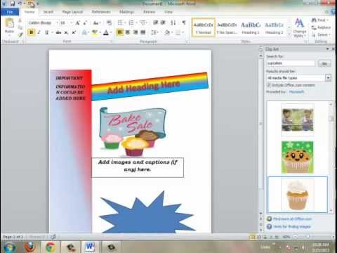 HOW TO MAKE A FLYER USING MICROSOFT WORD 2010