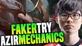 Faker Plays Azir To Try Some Azir Mechanics ( Is Azir In Meta Again? ) | SKT T1 Faker SoloQ