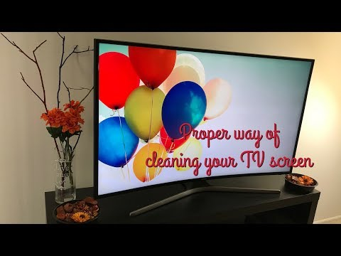 How to clean TV Screen / Proper and Best way of cleaning TV Screen (Flat/Curved) LED, LCD, PLASMA